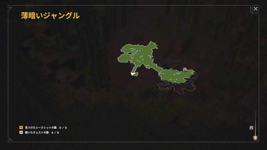 薄暗いジャングル新しい場所の地図