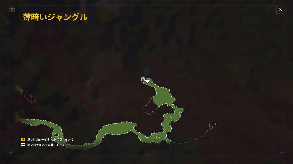 薄暗いジャングル隠し洞窟の場所1